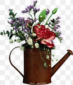 Spring Flowers - Flower Watering Cans Garden PNG