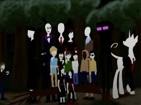 Slender Man - Slender: The Eight Pages Slenderman Family Creepypasta Brother PNG