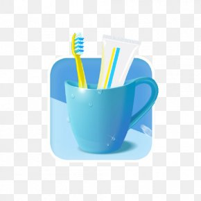 Toothpaste, Toothbrush Cup - Toothbrush Rendering Icon PNG
