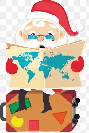 Reading Snowman - Santa Claus Christmas Euclidean Vector PNG