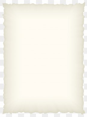 Old Scrolled Paper Image - White Rectangle Pillow PNG