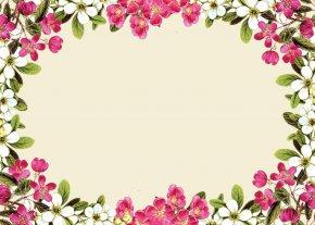 Flower Cliparts Frame - Flower Rose Pink Clip Art PNG