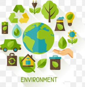 Calls For Protection Of The Global Environment Elements - Environment Pollution Ecology Illustration PNG