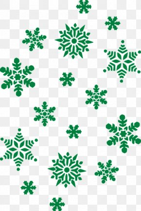 Green Winter Snowflake Decoration - Snowflake Black Free Content Clip Art PNG