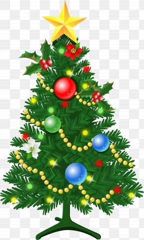Christmas Tree - Christmas Tree Fir Santa Claus PNG