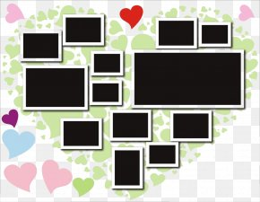 Heart-shaped Photo Frame Wall Photo Frame Design - Wall PNG
