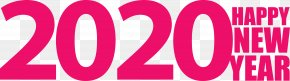Love Magenta - Happy New Year 2020 Happy 2020 2020 PNG