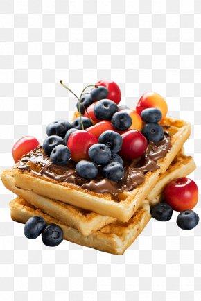 Blueberry Cherry Waffles - Belgian Waffle Pancake Crxc3xaape Chocolate PNG