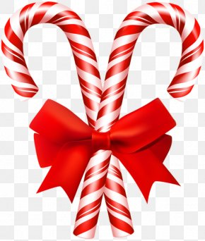 Pinecones Ribbon - Candy Cane Stick Candy Lollipop PNG