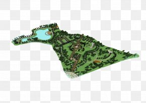 Park Aerial View - Park Plane Architectural Rendering PNG