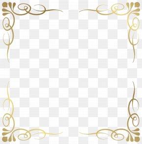 Transparent Decorative Frame Border Image - Picture Frame Clip Art PNG