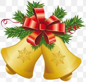 Mistletoe Cliparts Transparent - Christmas Jingle Bell Clip Art PNG