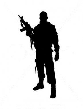 Soldier Silhouette - Soldier Silhouette Military Clip Art PNG