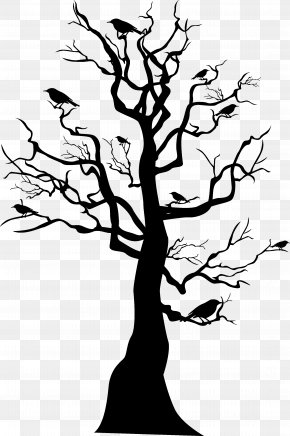 Black Halloween Tree - Tree Skeleton Halloween PNG