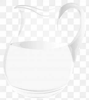 Jug Of Milk Clipart - White Product Glass Pattern PNG