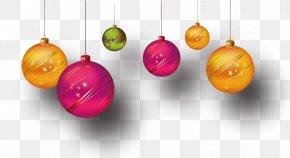 Colored Christmas Balls - Christmas Ornament Ball PNG