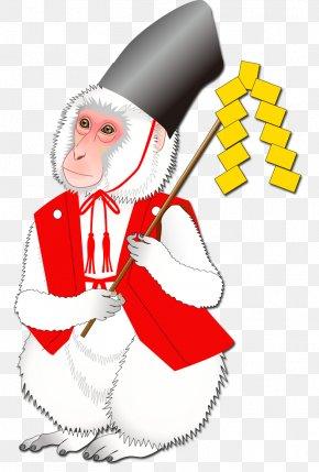 Monkey - Santa Claus Christmas Ornament Profession Illustration PNG