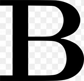 Letter B - Black And White Brand Pattern PNG