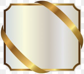 White Label With Gold Ribbon Image - Ribbon Gold Clip Art PNG