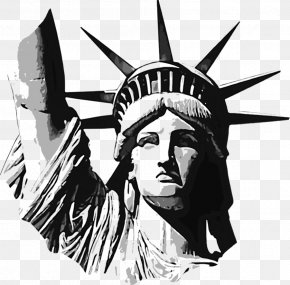 Statue Of Liberty HD - Statue Of Liberty New Jersey The New Colossus Donald Trump Drawing PNG