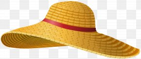 Female Straw Hat Clip Art - Straw Hat Cowboy Hat Clip Art PNG