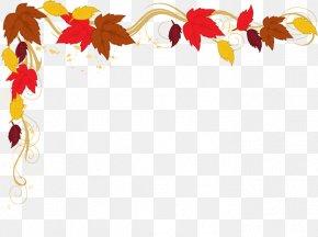 Border Leaves Cliparts - Autumn Clip Art PNG