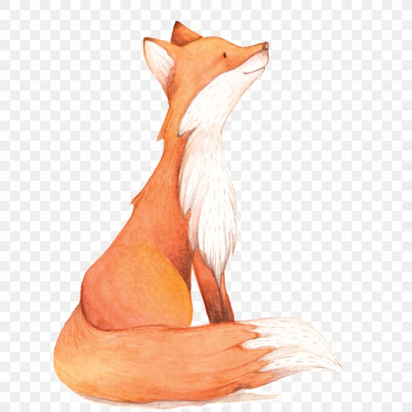 Watercolor Fox, PNG, 1024x1024px, Watercolor, Cartoon, Flower, Frame, Heart Download Free