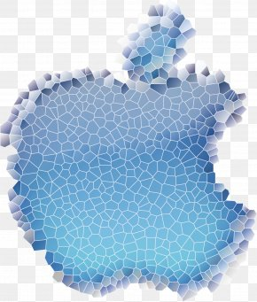 Vector Painted Mosaic Apple Logo - Apple Logo IOS PNG