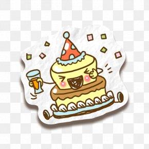 Cartoon Birthday Cake - Birthday Cake Tart Torte PNG