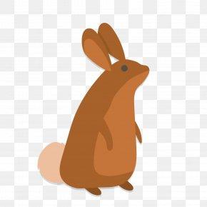 Vector Yellow Rabbit Illustration - Domestic Rabbit Easter Bunny Euclidean Vector PNG