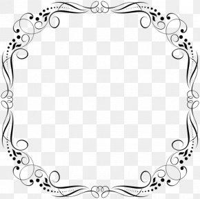 M Pattern Picture Frames Flower - Clip Art Black & White PNG