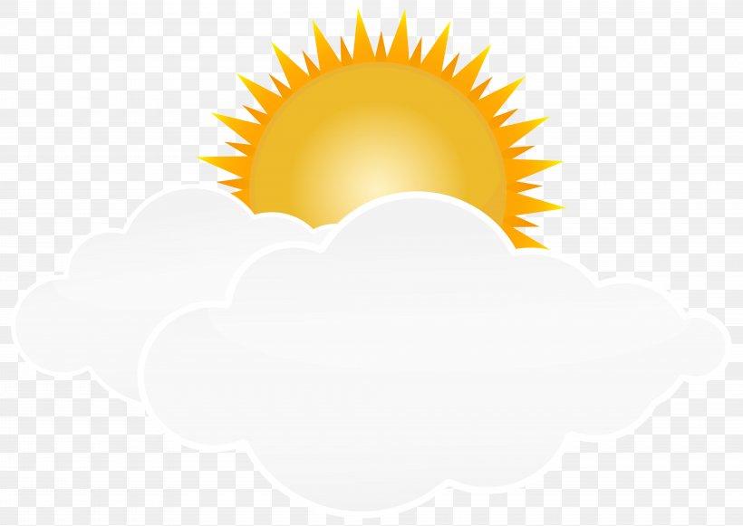 The Sun through Clouds Clip Art