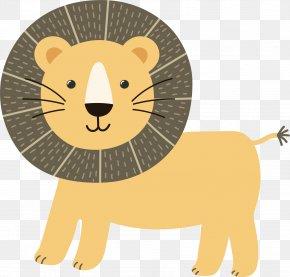 Vector Hand Painted Lion - Lion Euclidean Vector Vecteur PNG