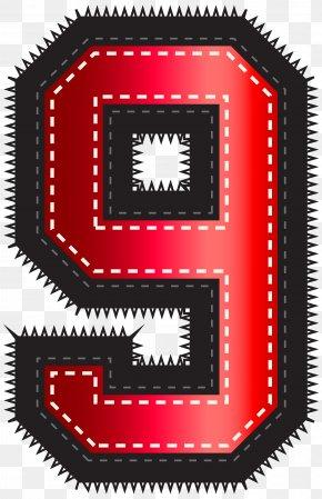 Red Sport Style Number Nine Clip Art Image - Red Clip Art PNG