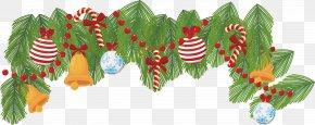 Golden Bell Christmas Border - Christmas Bell Computer File PNG