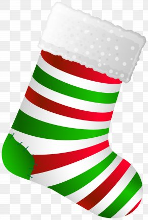 Small Christmas Stocking - Christmas Stockings Clip Art Christmas Striped Stocking Christmas Day PNG
