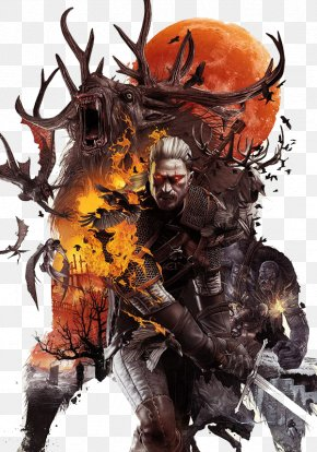 Cg Flame Warrior - The Witcher 3: Wild Hunt The Witcher 2: Assassins Of Kings Geralt Of Rivia PlayStation 4 PNG