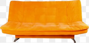 Orange Sofa Image - Couch Furniture Chair Living Room PNG