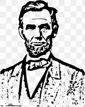 Abraham Cliparts - Outline Of Abraham Lincoln President Of The United States Clip Art PNG
