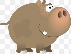 Vector Cartoon Hippo - Tongue-twister Pronunciation Language Syllable Word PNG