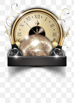 Gold Clock - New Years Eve Flyer New Years Day Party PNG