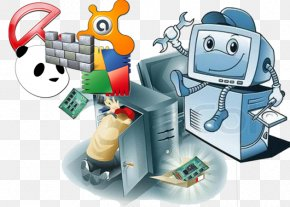 On Computer - Technical Support Laptop Computer Software Computer Repair Technician PNG