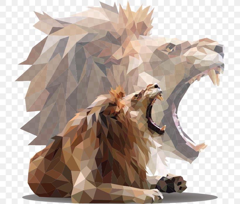 Lion Roar, PNG, 720x699px, Lion, Abstract Art, Carnivoran, Drawing, Geometric Shape Download Free