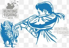 Fight Wild Boar Hunters - Wild Boar Hunting Euclidean Vector Illustration PNG