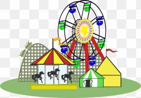 Carnival Pic - Amusement Park Amusement Ride Clip Art PNG