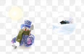 Dressed Snowman And Snow Bubble Of The House - Snow Gratis Hat PNG