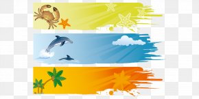 Summer Beach Background Elements - Banner Royalty-free Summer Illustration PNG