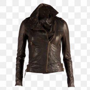 Leather - Leather Jacket Coat Clothing PNG