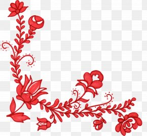 Red - Flower Red Floral Design Clip Art PNG