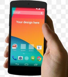 Holding The Phone Display Prototype - Nexus 5 Nexus 4 Galaxy Nexus Mockup Android PNG